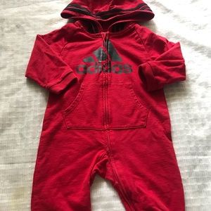 Adidas coveralls red